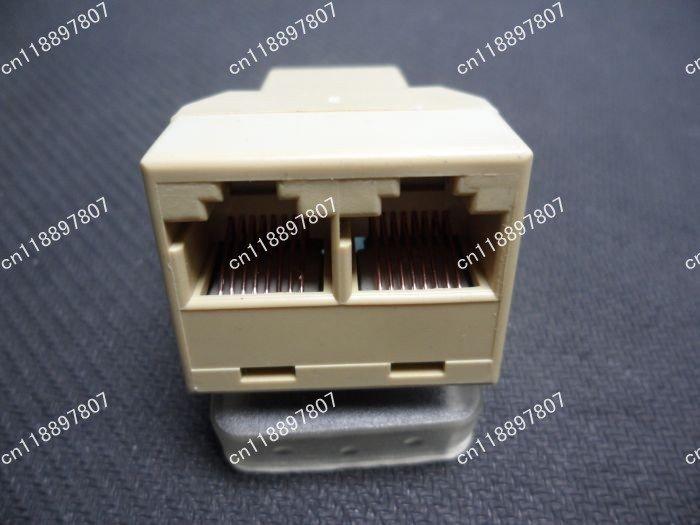 Free Shipping+1000pcs/lot Ethernet Splitter Connector Adapter PC RJ45 CAT 5 6 LAN(China (Mainland))