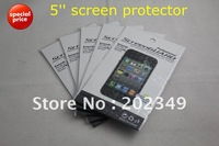 5 inch LCD screen protector screen protective film screen guard for 5'' GPS naviagrtor, tablet pc, PDA, MP5