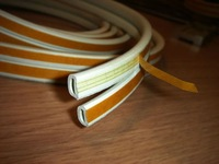rubber  strip D shape 9*6 mm  whtie color