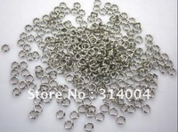1000pcs Free Shipping Fishing lures split rings 7mm Fishing Wire lure steel traveler