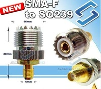 Connector/Adaptor SL16-K to SMA-K, SMA-Female to SO239 for FDC FD-150A FD-450A FD-160A FD-460A KG-816 SMA-F TO SO239
