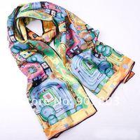 2012 New top selling women silk scarf silk ladies shawl 62*140cm Oblong free shipping YH-01