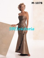Free shipping 2013  fashion new style brown Mother of the Bride Dress Mother of Bride Dress with Loose coat custom