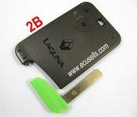 Good Quality ,  Intelligent for RENAULT Laguna Smart Card 2 Button Remote Key shell + KEY BLADE