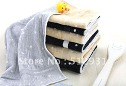 60*120Free shippingCotton towel/cotton high-grade natural cotton towel/large hood/supporting towel bibulous towel(China (Mainland))