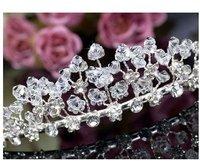 Elegant 340x38mm Wedding Bridal Tiara Crown Clip use Rhinestone Crystal T445