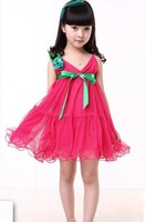 Free shipping!one-piece dress for girl,2012 South Korea style princess dress with lace