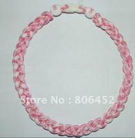 Ribbon rope necklaces 3 ropes braided bracelet necklaces, Tornado necklaces 500pcs/lot