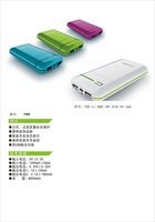colorful mobile power for smart phone,8000mAh