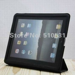 Popular ultra slim PU leather smart case for ipad 2/3,retail and wholesale,freeshipping(China (Mainland))