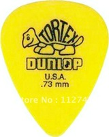 Wholesale -NEW 72 piece Guitar Picks 73 mm Yellow  Tortex Guitar Picks from china Wholesale free shipping
