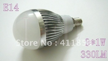 3 W E14 300 ~ 330 LM 85 ~ 245 V LED ball steep light (can make the light) 2pcs/lot
