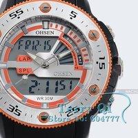 Наручные часы Alarm Mens Quartz Watch Digital Sport Wrist Watches Ship