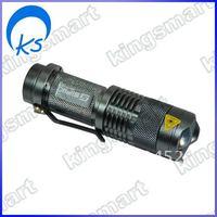 Metal LED Flashlight blackfor climbing, biking, camping 80347