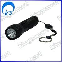 7 LED Flashlight Camp Lamp Light Torch + Laser Pointer 80354