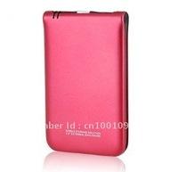 "S255 2.5"" USB2.0 Portable Hard Disk Enclosure Case for Laptop, Desktop and Mac (Red)"