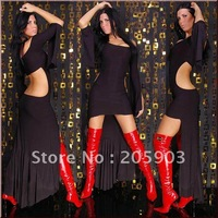 Free shipping Sexy Cocktail-Dress Club Gogo Black Red Women sexy clubwear Evening dress 2012 Wholesale 12pcs/lot  6113-1