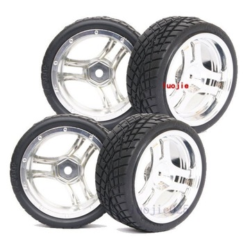 1015-8001 RC Rubber Sponge Speed Liner Tires Tyre Wheel Rim 1:10 1/10 On Road Model Car Tire HOBBY