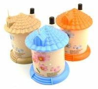 EMS Free Shipping pocket Plastic Castle Little House Design Automatic Toothpick Holder Dispenser Box 120pcs/lot  NY-040
