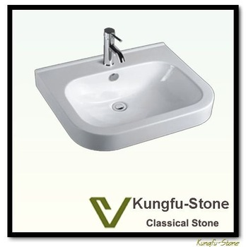 Kungfu Stone supply bathroom ceramic sink+vanity top+counter top+installation advises+fine shipping cost