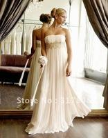 Free shipping latest elegant designer collection pretty strapless ruffle empire floor length chiffon bridesmaid dresses BD99