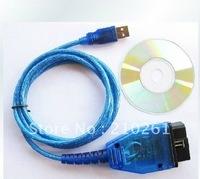 Free shipping USB Cable Car Diagnose tool KKL VAG 409.1 VW/AUDI OBD2