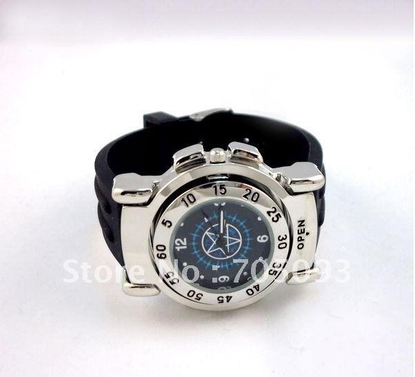 Japanese animation Kuroshitsuji cartoon wrist watch compass free shipping wholesale from factory NIB(China (Mainland))