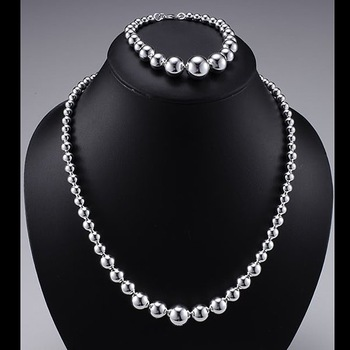 Wholesale 925 Sterling Silver Plated Copper.New Arrival Fashion Necklace&Bracelet NB701