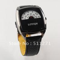 Free Shipping Promotion Black Wave Plate Sugar Women Men's Quartz Leather Belt Wrist Watch JM036