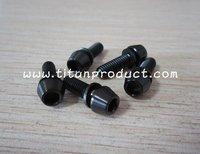 Titanium Stem Bolt M5x16mm Black Tapered Head