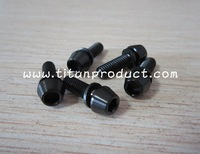 Titanium Stem Bolt M5x16mm Black Tapered Head