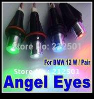 Free Shipping good qualtiy super bright white 12W 12V LED Angel Eyes Bulb for BMW E39 E53 E61 E64 E65 E66 E87
