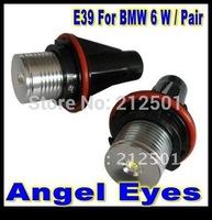 Free Shipping good qualtiy  white 6W 12V LED Angel Eyes Bulb for BMW E39 E53 E61 E64 E65 E66 E87