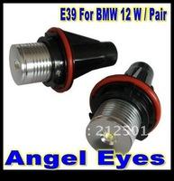 Free Shipping   led maker 12W 12V LED car  Angel Eyes Bulb white for BMW E39 E53 E61 E64 E65 E66 E87 with low price