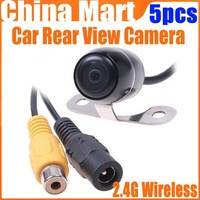 2.4G Wireless GPS Night Vision Car Rear View 2 LED Color Backup Camera NTSC Express 5pcs/lot
