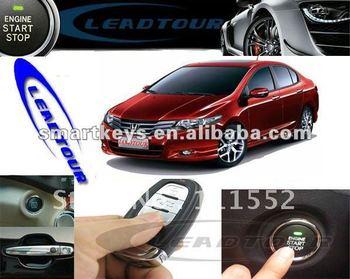 Car keyless entry system smart start stop button RFID for Honda City