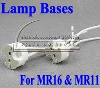 wholesale 50pcs/lot MR16 MR11 LED Socket led bulb halogen Lamp bases lighting holder Wire Connector