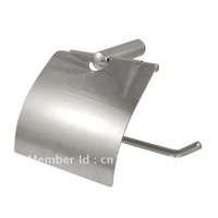 Bathroom Toilet Paper Roller SUS304 Stainless Steel Holder Bracket w Cover free shipping