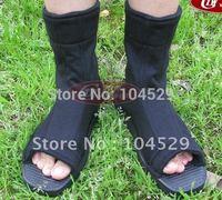 NARUTO ANIME COSPLAY COSTUME Ninja shoes black  free shipping