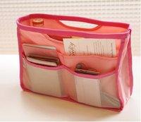2012 Hot Sale  Fashion Casual  women handbag bag in bag multifunction pink sky  good buy lady bag  wallet free shipping