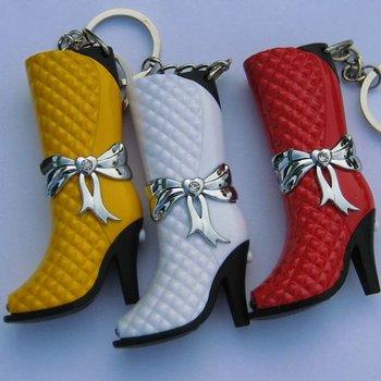 New 1pcs Funky leather boot Shape Lighter Key Chain butance gas cigarette lighter big fun!Lady's Lighter Gift