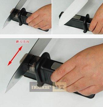 Diamond Stone for hard part (HRC>78) and Ceramic Wheel for regular steel, sharpener for kitchen knives