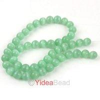 12String New Arrivel Light Green Opal Stone Charms Cat's Eye Beads Fit Bracelet Necklace DIY 111437