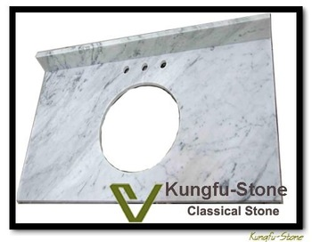 kungfu stone supply Italy White Marble Vanity Top+ kitchen or bathroom use+fine shipping cost+factory supply