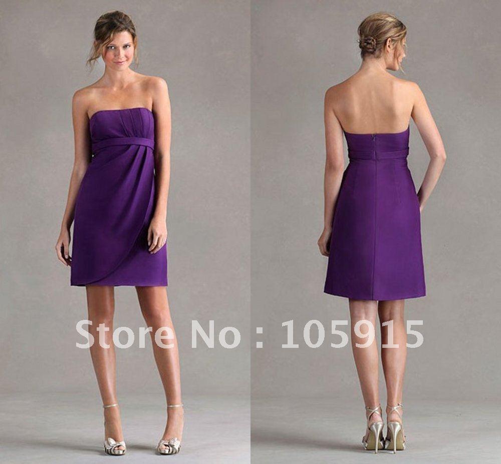 Short Lavender Chiffon Bridesmaid Dresses - Floral delivery