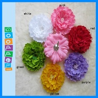 Детский аксессуар для волос Fashion flower grip for baby girls' clothes /cap / hair or headband, 11.5cm beautiful peony design, HIGH QUALITY