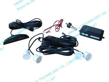 parking assistant system PS-1 with 4 sensors system 12V LED display Indicator parking sensor car reverse radar kit white