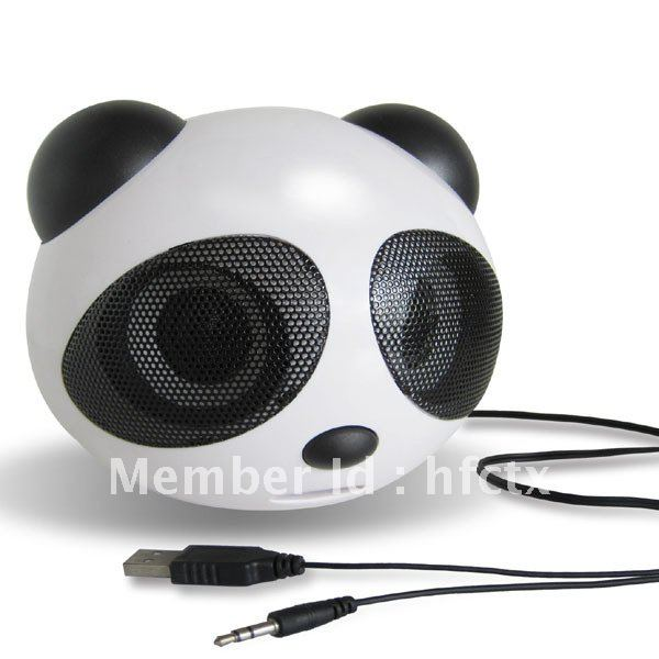 panda Style stereo Usb speaker for notebook(China (Mainland))