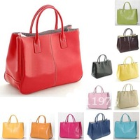 Free Shipping 13 Colors Popular Faux Leather Women Clutch Purse Handbag Tote Bag