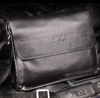 2012 fashion men shoulder bag men genuine leather messenger bag business bag free shipping wholesale and retail  #MB06
